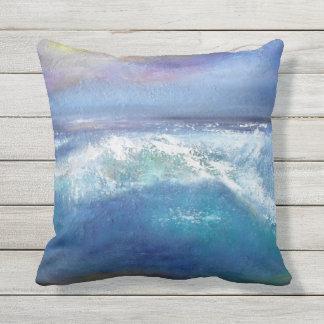 Almofada Para Ambientes Externos Travesseiro decorativo da onda do por do sol