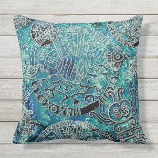 """Almofada Para Ambientes Externos Travesseiro decorativo exterior 20"""" dos azuis"""