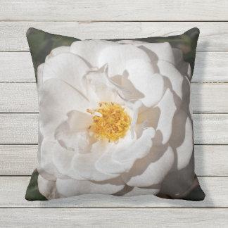 Almofada Para Ambientes Externos Travesseiro decorativo exterior do rosa branco