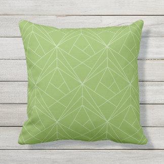 Almofada Para Ambientes Externos Travesseiro decorativo exterior do verde moderno