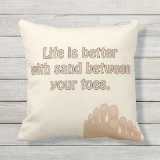 Almofada Para Ambientes Externos Travesseiro dos dedos do pé da areia da praia