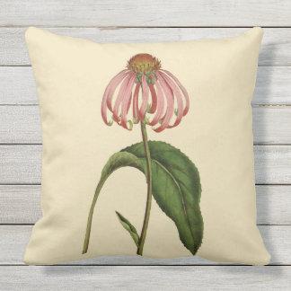 """Almofada Para Ambientes Externos Travesseiro exterior botânico cor-de-rosa 20"""" de"""