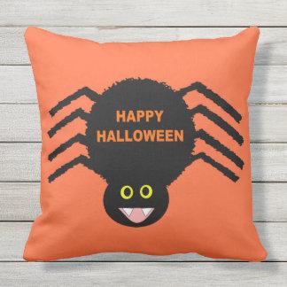 Almofada Para Ambientes Externos Travesseiro exterior da aranha preta do Dia das