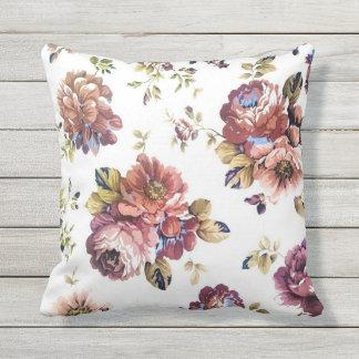 Almofada Para Ambientes Externos Travesseiro exterior do teste padrão floral do