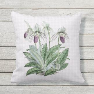 Almofada Para Ambientes Externos Travesseiro exterior roxo 16x16 da orquídea de