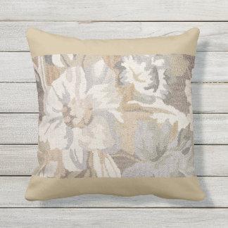 Almofada Para Ambientes Externos Travesseiro floral bege