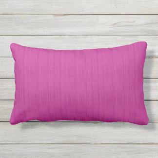 Almofada Para Ambientes Externos Travesseiro lombar exterior da textura cor-de-rosa