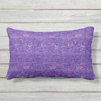 Almofada Para Ambientes Externos Travesseiro lombar exterior do Grunge colorido