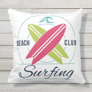 Almofada Para Ambientes Externos Travesseiros decorativos do surfista