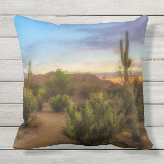 Almofada Para Ambientes Externos Travesseiros do nascer do sol do deserto da