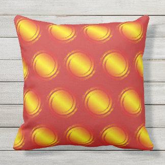 Almofada Para Ambientes Externos Verão amarelo alaranjado e vermelho de Sun do