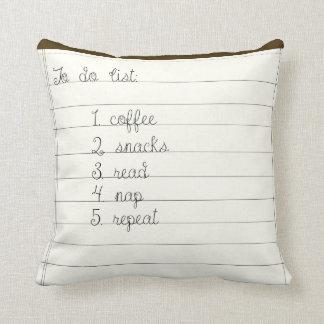 Almofada Para fazer a lista