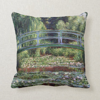 Almofada Passadiço japonês de Monet e a piscina do lírio de