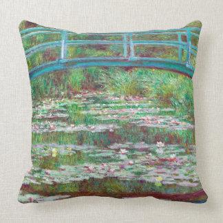 Almofada Passadiço japonês restaurado da cor por Monet