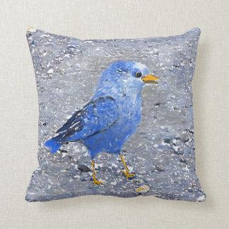 Almofada Pássaro azul: Bugly a borboleta,