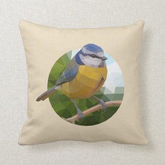 Almofada Pássaro do melharuco azul