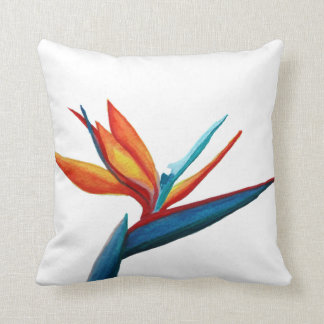 Almofada Pássaro do travesseiro da aguarela do paraíso