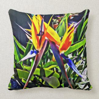 Almofada Pássaro tropical do travesseiro decorativo do