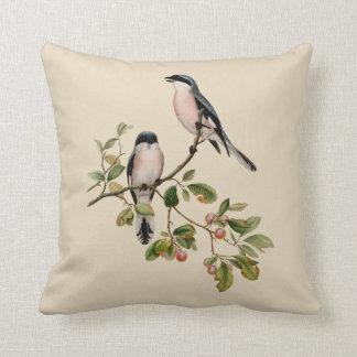 Almofada Pássaros bonito do vintage no bege