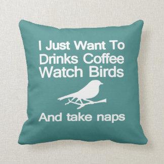 Almofada Pássaros cafeína & sestas