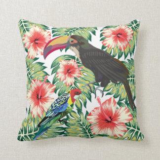 Almofada Pássaros tropicais das séries 1 do design do