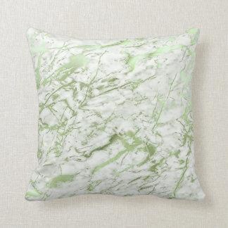 Almofada Pastel de mármore branco das hortaliças abstratas