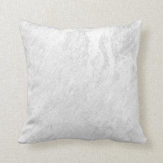 Almofada Pastel de mármore de prata cinzento abstrato de