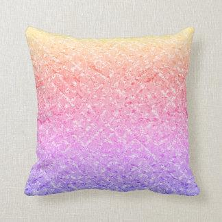 Almofada Pastel roxo Amethyst do arco-íris de Ombre do rosa