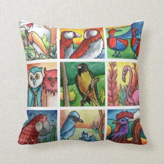 Almofada Pato do papagaio do flamingo da garça-real do galo
