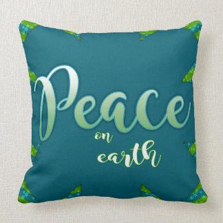 Almofada Paz no travesseiro decorativo da terra