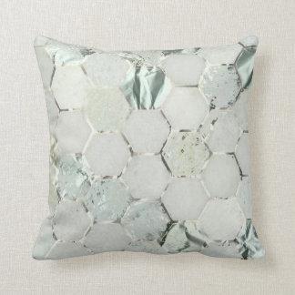 Almofada Pedra do mármore do metal das cinzas de prata do
