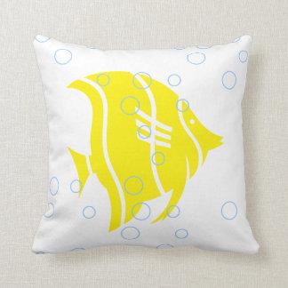 Almofada Peixes amarelos no TRAVESSEIRO branco