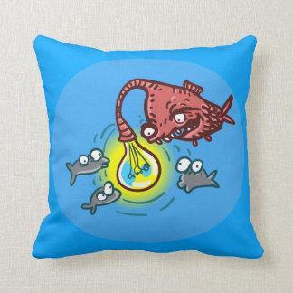 Almofada peixes profundos sneaky que vão enganar desenhos