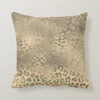 Almofada Pele animal de Lampart do ouro Glam do Sepia