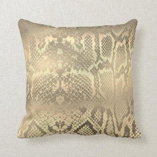 Almofada Pele de cobra animal do pitão do ouro Glam do