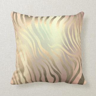 Almofada Pele dourada do safari da zebra do cobre