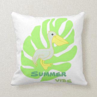 Almofada Pelicano da impressão do verão