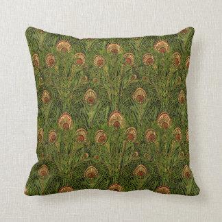 Almofada Penas verdes do pavão