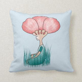 Almofada Pense o travesseiro decorativo bonito da meditação