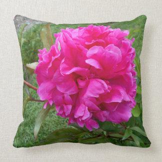 Almofada Peônia cor-de-rosa brilhante