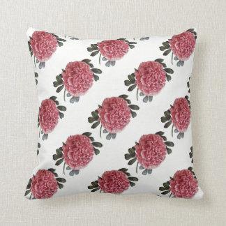 Almofada Peônia cor-de-rosa romântica