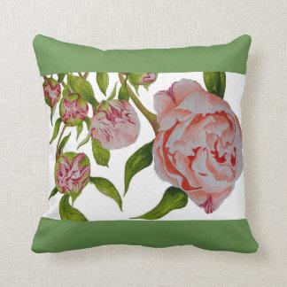 Almofada Peônias de brotamento em um travesseiro decorativo