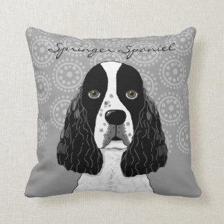 Almofada Personalize o cão do Spaniel de Springer inglês em