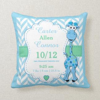 Almofada Personalize - o girafa dos azuis bebés