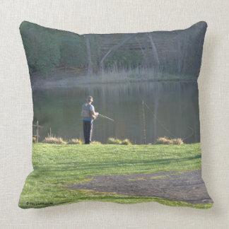 Almofada Pesca preguiçosa do dia no travesseiro decorativo