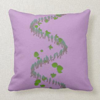 Almofada Pessoas e travesseiro das folhas roxo espiral e