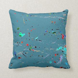Almofada Pinte espirra e mancha a arte abstracta