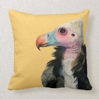 Almofada Pintura Branco-Dirigida da aguarela do abutre