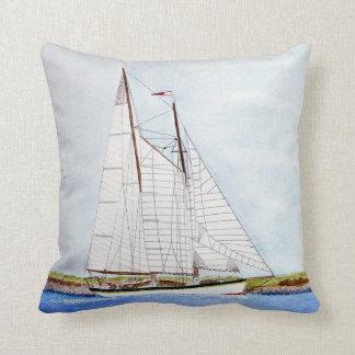 Almofada pintura da aguarela do veleiro