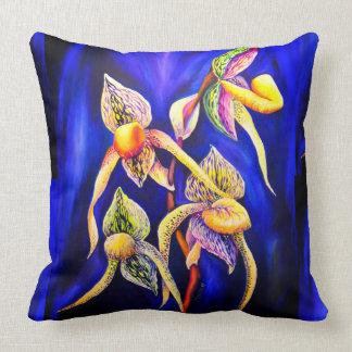 Almofada Pintura das orquídeas azuis